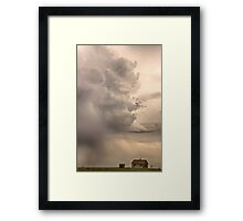Gobbled Up By a Monster Storm Framed Print