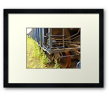 An Old Rusting Railroad Boxcar - Framed Print