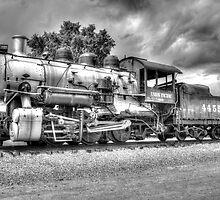 Union Pacific No. 4455 B&W by lkrobbins