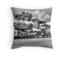 Union Pacific No. 4455 B&W Throw Pillow