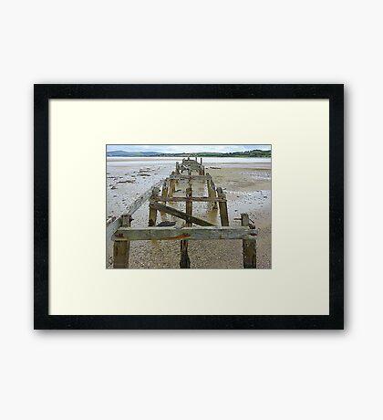 The Old Pier Of Fahan Framed Print
