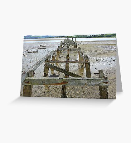 The Old Pier Of Fahan Greeting Card