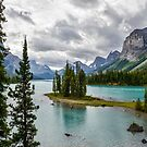 Maligne Lake from Spirit Island by Chris  Randall
