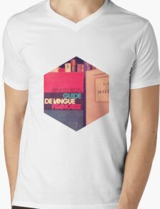A guide to the french language.  Mens V-Neck T-Shirt