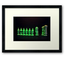 Chess Pieces - (dare to be different) Framed Print
