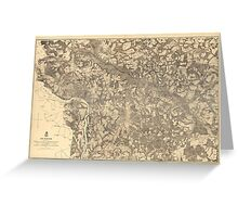 Map of Richmond Virginia (1862-1865) Greeting Card