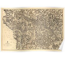 Map of Richmond Virginia (1862-1865) Poster