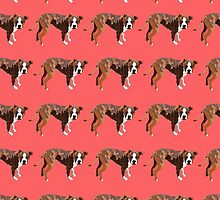 Poppy Red Pup Pattern by pupsofnyc