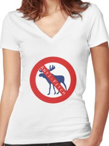 Anti-Fitch Women's Fitted V-Neck T-Shirt