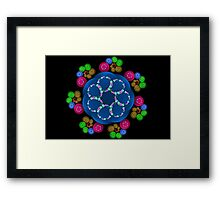 Bubble Curles Framed Print