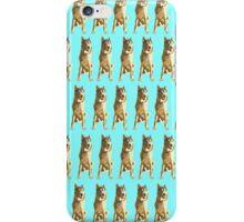 Bright Cyan Puppy Pattern iPhone Case/Skin