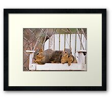 A Couple of Swingers Framed Print