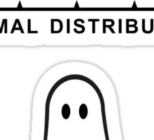 Normal Paranormal Distribution Sticker