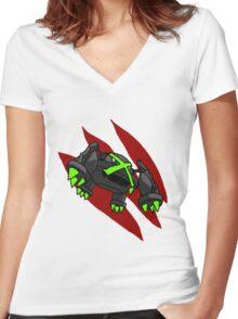 Mega Metagross Women's Fitted V-Neck T-Shirt