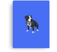 Royal Blue Pup Canvas Print