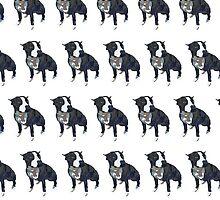 Royal Blue Pup White Pattern by pupsofnyc