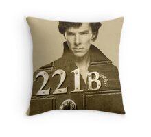 Sherlock 221B Throw Pillow
