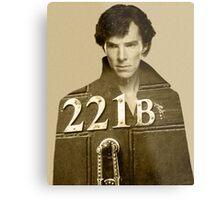 Sherlock 221B Metal Print