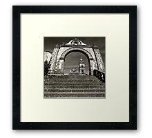 ©MS Tlalpujahua Portal IA Monochromatic Framed Print