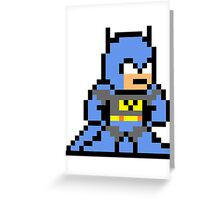 8-bit Batman Greeting Card