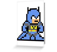 8-bit Batman Greeting Card