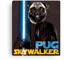 Pug Skywalker Canvas Print
