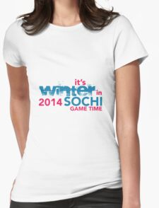 It's Winter in Sochi 2014 Womens Fitted T-Shirt
