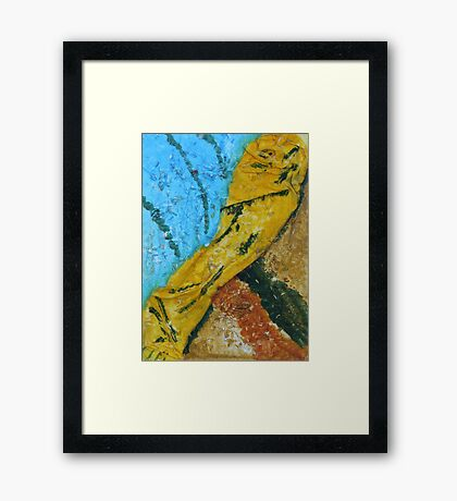 """A Flash Of Yellow"" by Carter L. Shepard Framed Print"