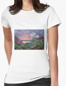 Orchids and Mystery Womens Fitted T-Shirt