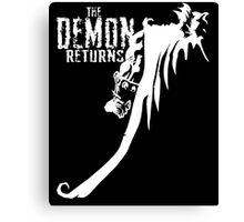 The Demon Returns (White) Canvas Print