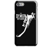 The Demon Returns (White) iPhone Case/Skin