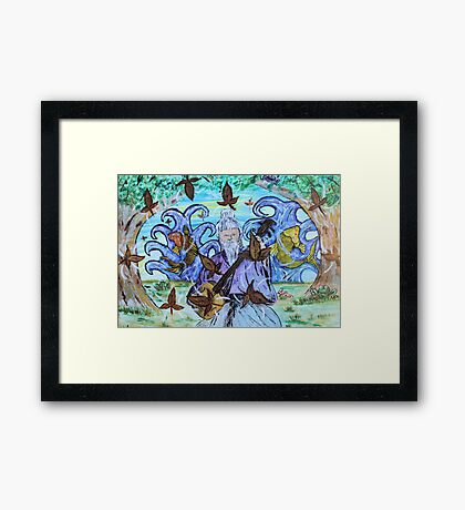 """Fall's Song"" by Carter L. Shepard Framed Print"