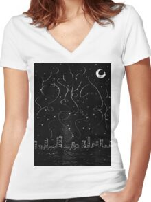 The City is Alive Women's Fitted V-Neck T-Shirt