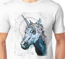 Mint Chocolate Chipicorn - Green Unicorn painting Unisex T-Shirt
