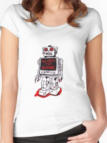 Robot Destroy All Humans Women's Fitted Scoop T-Shirt