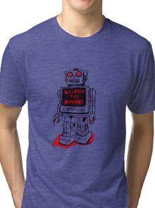 Robot Destroy All Humans Tri-blend T-Shirt