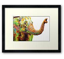 Tilly The Silly Elephant Framed Print
