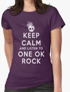 keep calm - one ok rock Womens Fitted T-Shirt