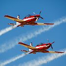 RAAF Roulettes in the  Pilatus PC-9 by Chris  Randall