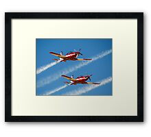 RAAF Roulettes in the  Pilatus PC-9 Framed Print