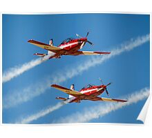 RAAF Roulettes in the  Pilatus PC-9 Poster