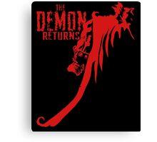 The Demon Returns Canvas Print