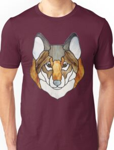 Stained Glass Wolf Head Unisex T-Shirt