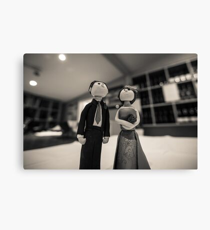 Wedding figurines Canvas Print