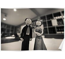 Wedding figurines Poster