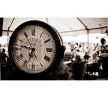 Victoria Station antique clock Photographic Print