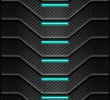 Carbon Fibre Futuristic Phone Case by Matitechnique
