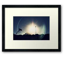 Lens Flare Framed Print