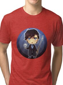 Sherlock and his Harpoon  Tri-blend T-Shirt