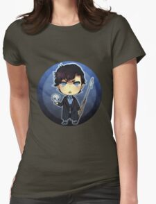 Sherlock and his Harpoon  Womens Fitted T-Shirt